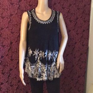 Tops - Embroidered Summer tunic, no tags. L